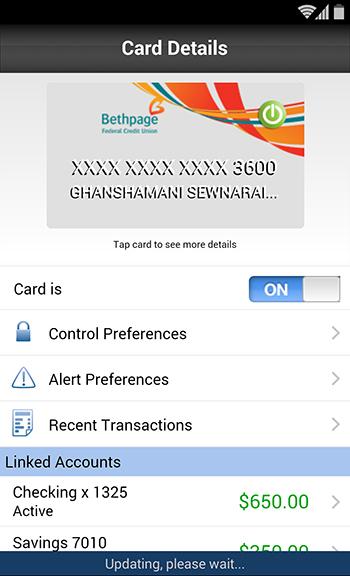 Card Navigation Details